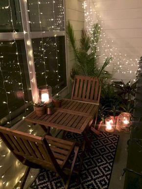 Balcon Luces Plantas Exterior Decorar Terrazas