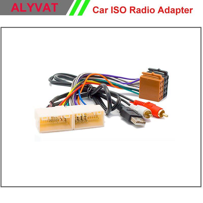 Car ISO Radio Adapter Connector For Hyundai iX-35 Solaris i-25 Verna ...