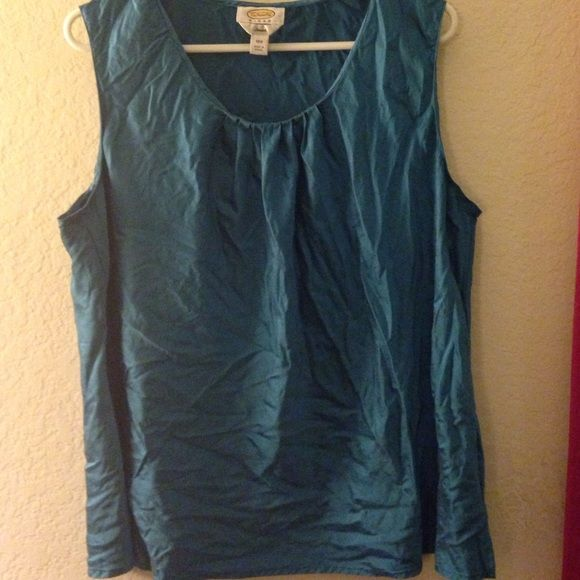 Teal sleeveless blouse Great work shirt. Re-posh item. Too big for me after all. Doing a closet clean out and will accept any offer  Talbots Tops Blouses
