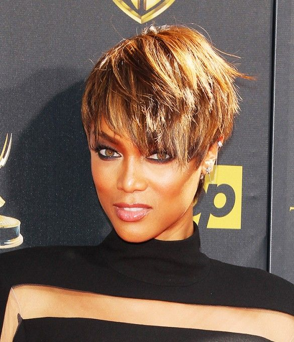 Best 25+ Tyra Banks Short Hair Ideas On Pinterest