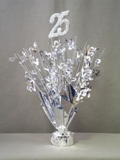 Silver Wedding Anniversary Decorations 25th Centerpieces With Base
