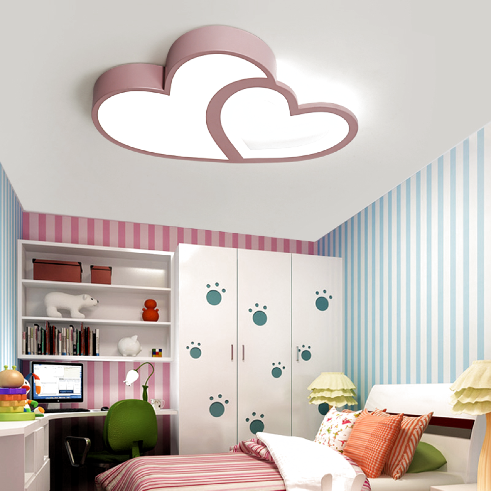 Bedroom Heart Shaped Ceiling Design With Fan
