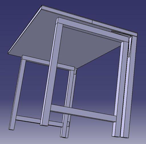 Risultati immagini per progetto tavolo da lavoro gambe for Piani garage annessi con stanza bonus