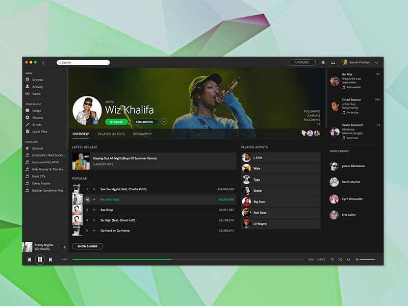 Spotify App Design (With images) App design, Spotify app