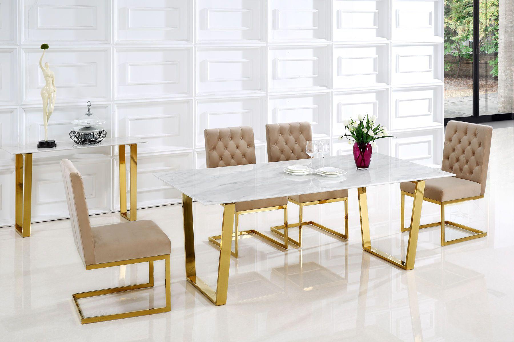 Cameron beige table 712 meridian furniture dining room