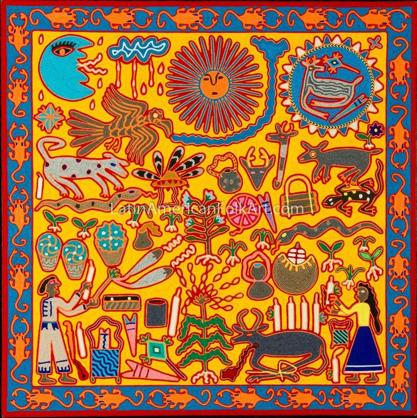Huichol Culture Huichol Art Mexican Yarn Art Art