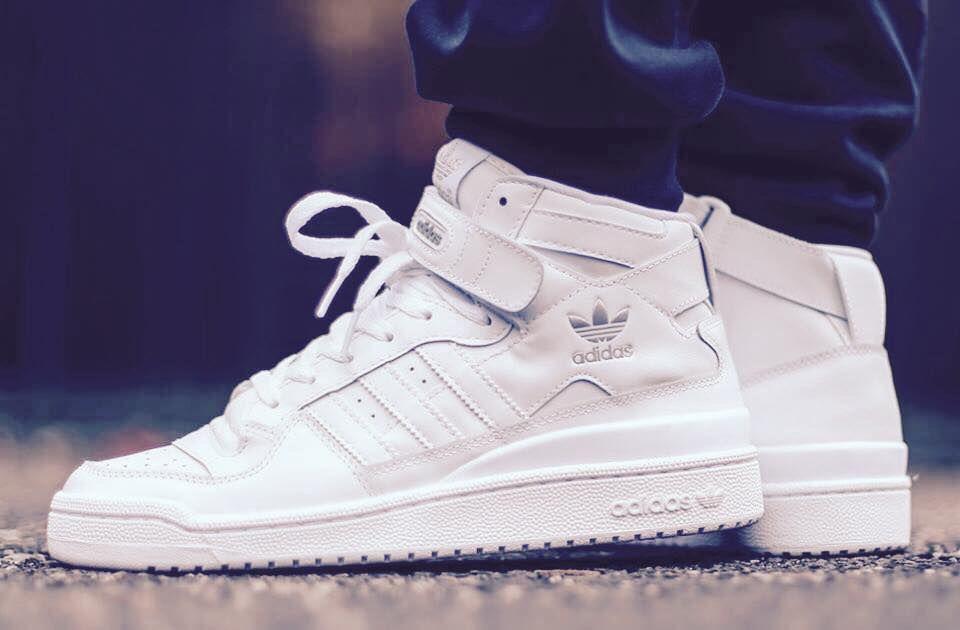 102b44d3734 adidas Originals Forum Mid  White