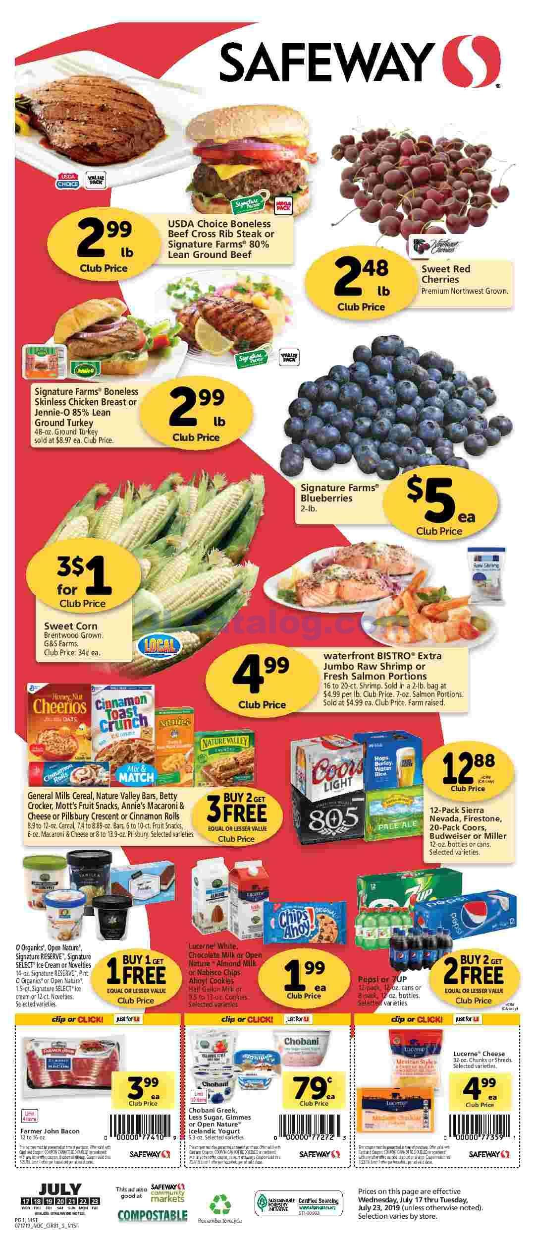 Safeway Weekly Ad 7/1/20 7/7/20 Sneak Peek Preview