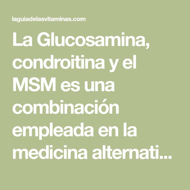 glucosamina+condroitina+y+msm+efectos+secundarios