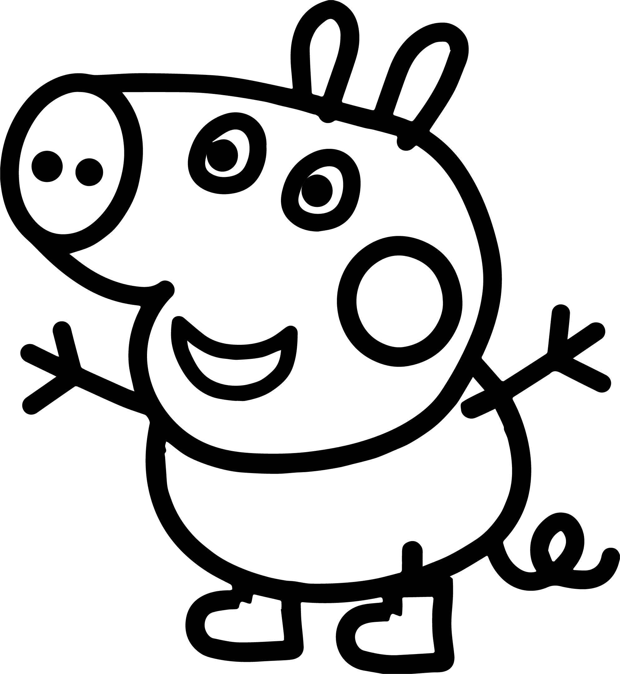 Awesome Small Baby Peppa Pig Coloring Page Peppa Pig Coloring Pages Toy Story Coloring Pages Elephant Coloring Page