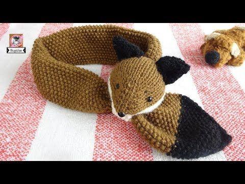 Cómo tejer bufandas de zorro / Tutoriales   Crochet y Dos agujas ...