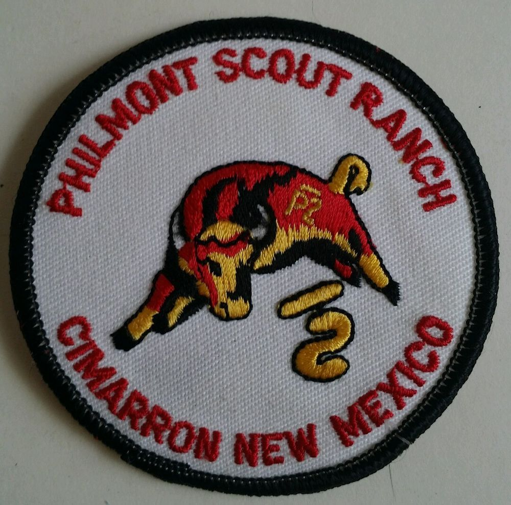 Vintage philmont scout ranch felt patch with red lettering bull vintage philmont scout ranch felt patch with red lettering bull bsa cimarron nm in collectibles buycottarizona