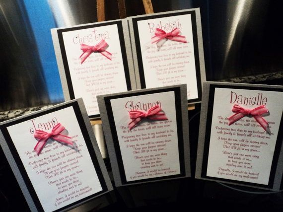 Cute way to ask your bridesmaids to be in your wedding | Wedding ...