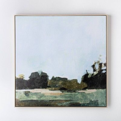 36 X 36 Treeline Abstract Framed Canvas Threshold Designed With Studio Mcgee Framed Landscape Art Canvas Frame Frames On Wall