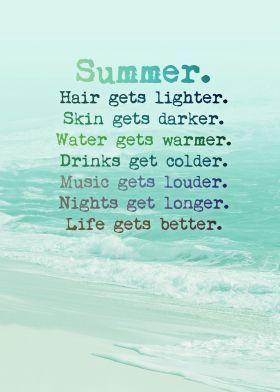 'SUMMER' Poster by Monika Strigel® | Displate