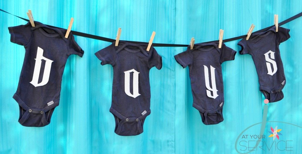 Onesie Bunting at Rock-a-Bye Baby Shower