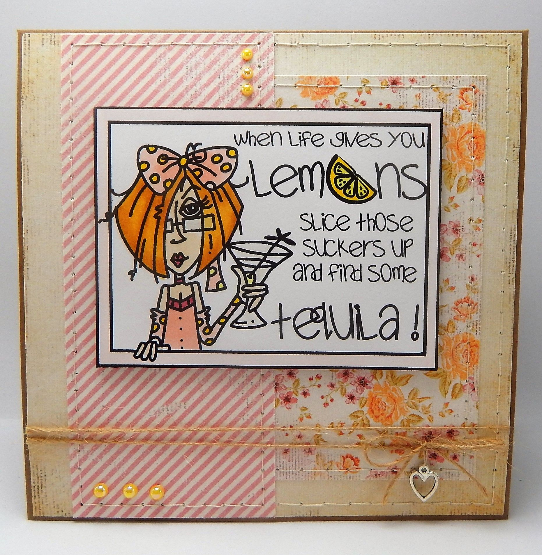 Bugaboo Digital Stamp When Life Gives You Lemons Handmade Cards