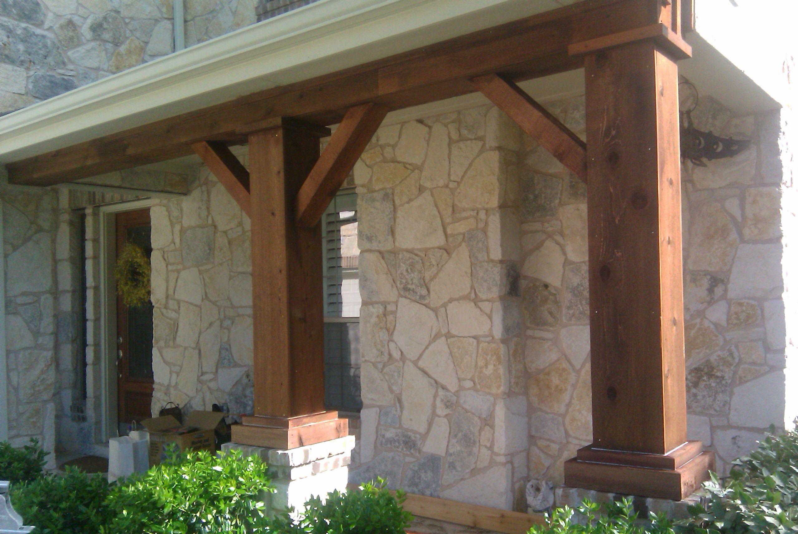 Cedar Columns For Front Porch Cedar Front Porch Column Stone