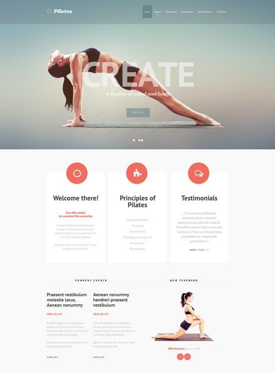 Fitness-Responsive-Website-Template | 레이아웃 | Pinterest ...