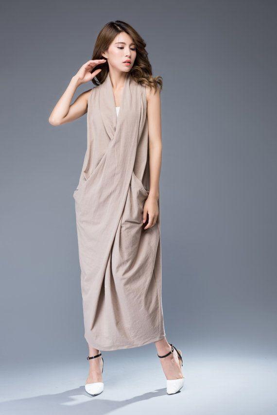 17df61529806 Linen dress maxi dress loose dress C937 by YL1dress on Etsy