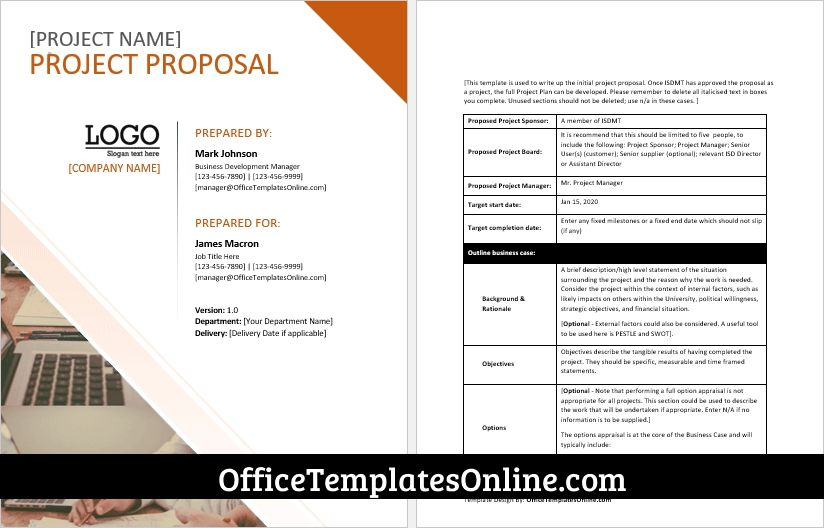 Printable Ms Word Project Proposal Template For Professionals In 2021 Proposal Templates Project Proposal Template Business Proposal Template