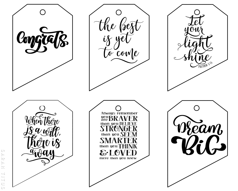 Free Printable Graduation Gift Tags Free Gift Tags Graduation Cards Handmade Graduation Gifts