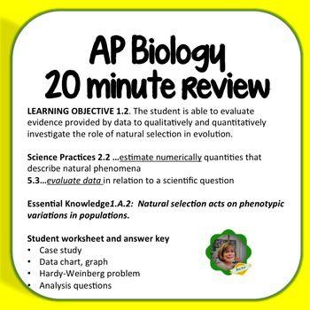 AP Biolog Worksheet: Learning Objective 1.2, Peppered Moths | Ap ...