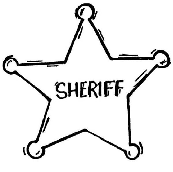 Sheriff Badge Coloring Page Coloring Sky Sheriff Badge Coloring Pages Badge