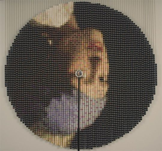 Inverted Art Made with Spools of Thread - by Devorah Sperber