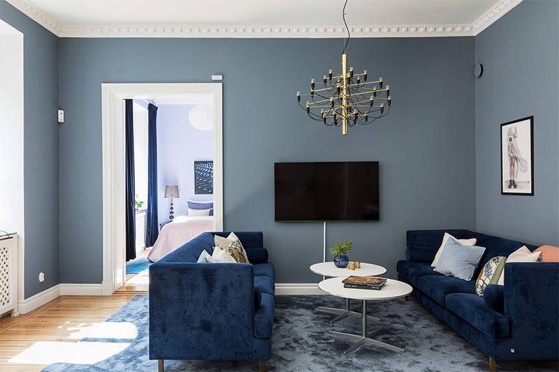 Pin En Sofas Azules Blue Sofas