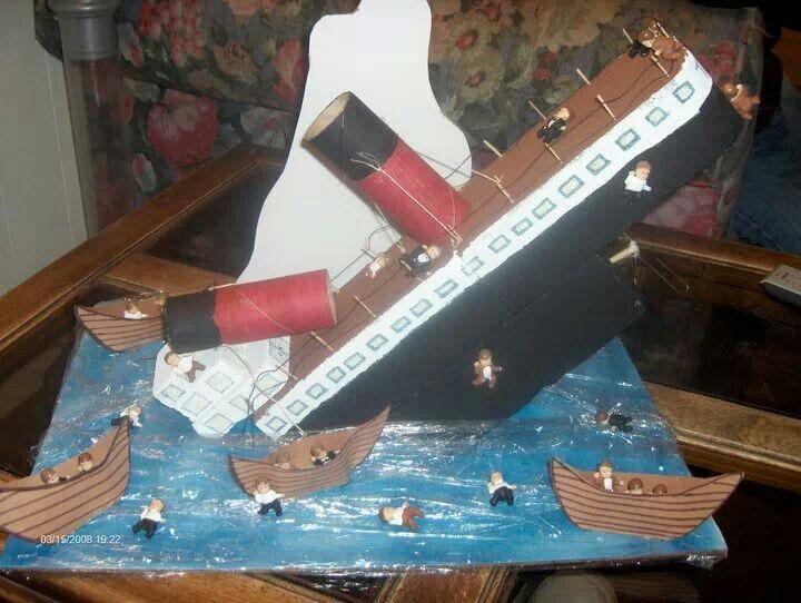 46680245 Titanic School Project | arts & crafts | Titanic model, Titanic art ...