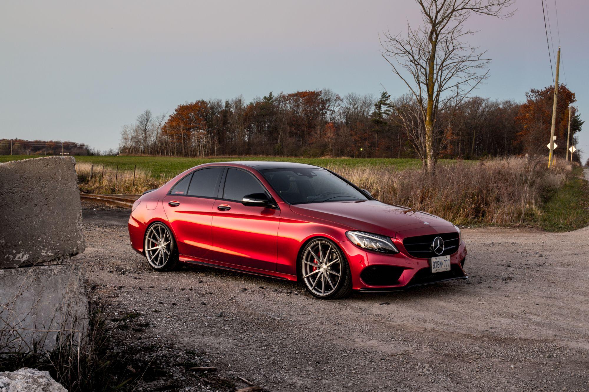 Mercedes C400 in Carbon Red Autoflex coatings #notawrap
