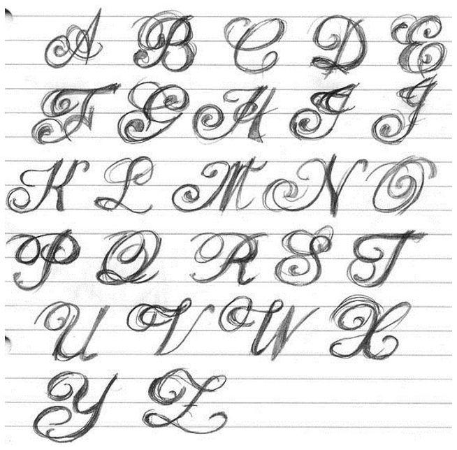 Tattoo Lettering Fonts Cursive, Tattoo Lettering Cursive Styles ...