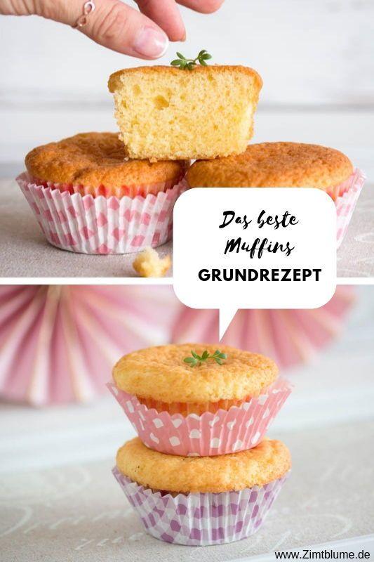 Einfaches Muffins Grundrezept: Mit diesem Rührteig werden sie perfekt |  – Cupcakes & Muffins selbst gemacht