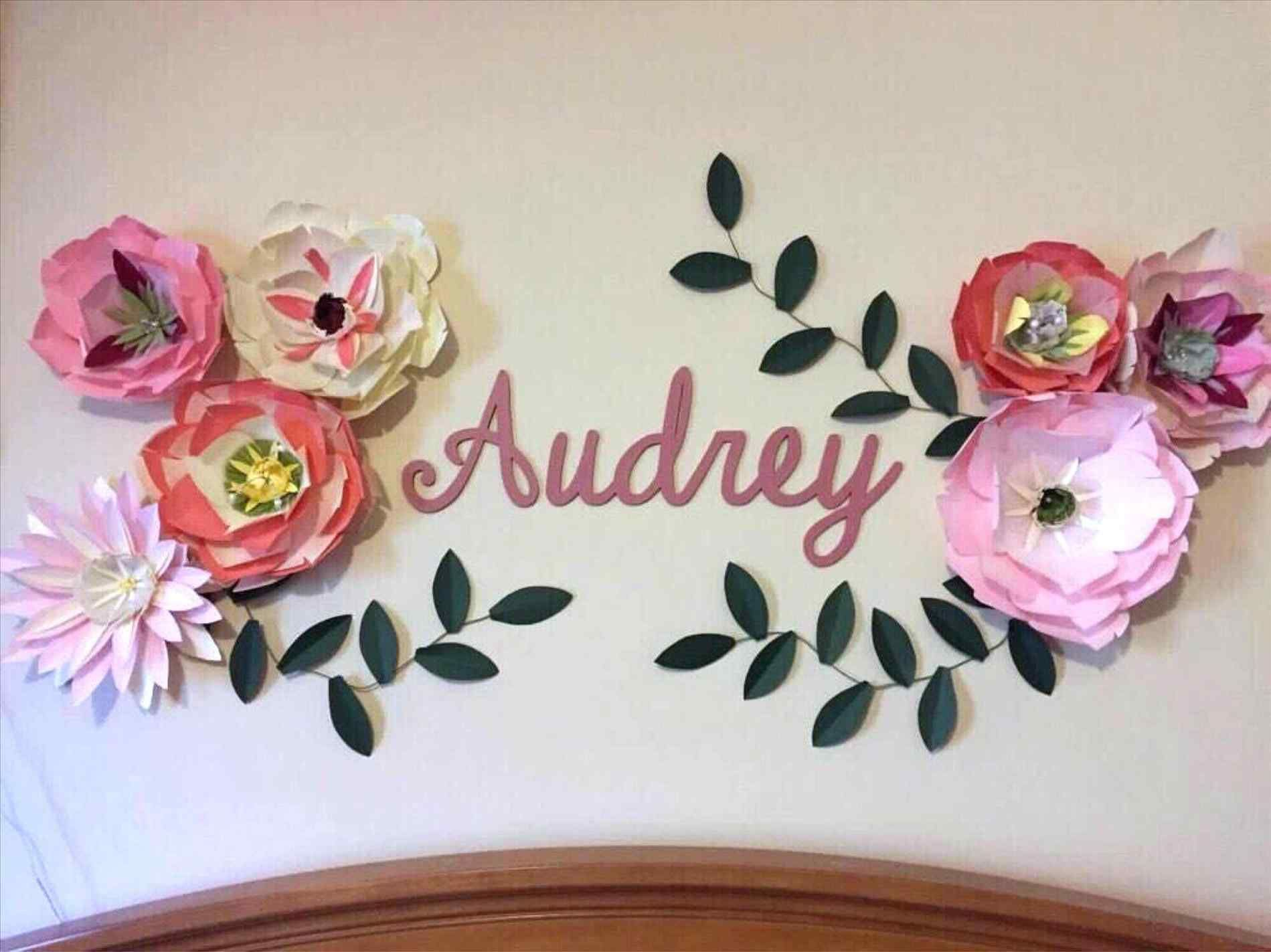 Diy How To Decorate Bedroom Walls With Paper Paper Flowers And
