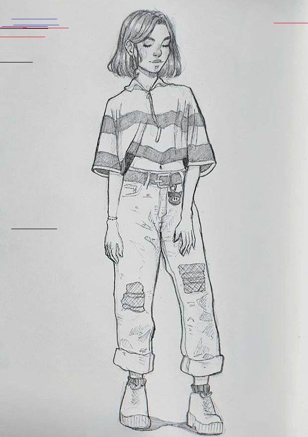 character art pencil Concept Art