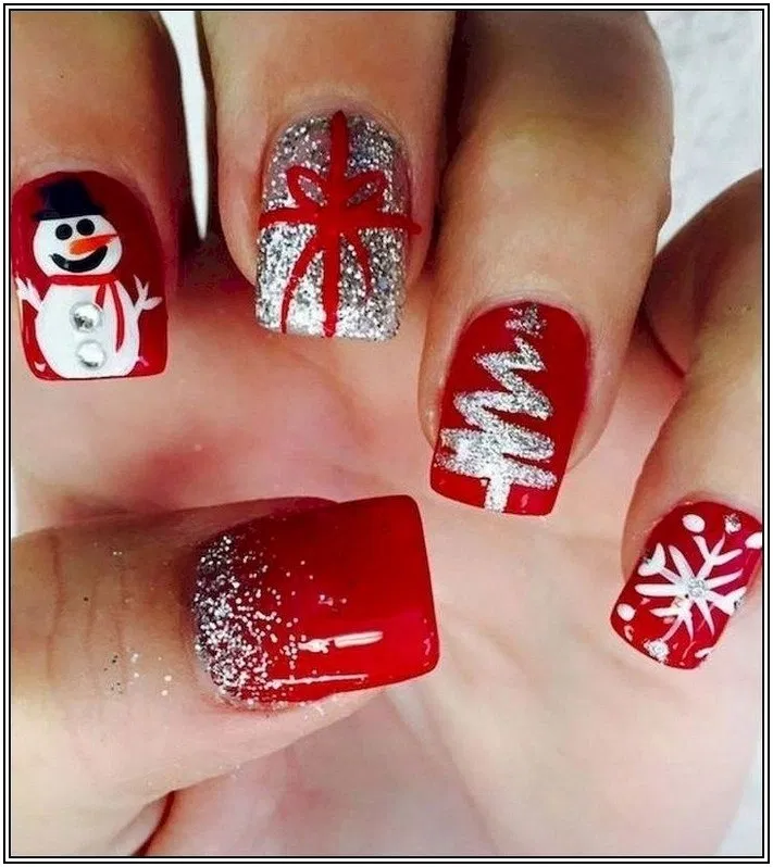 142 Nail Art For Christmas Ideas Page 30 Armaweb07 Com Christmas Nails Cute Christmas Nails Holiday Nails