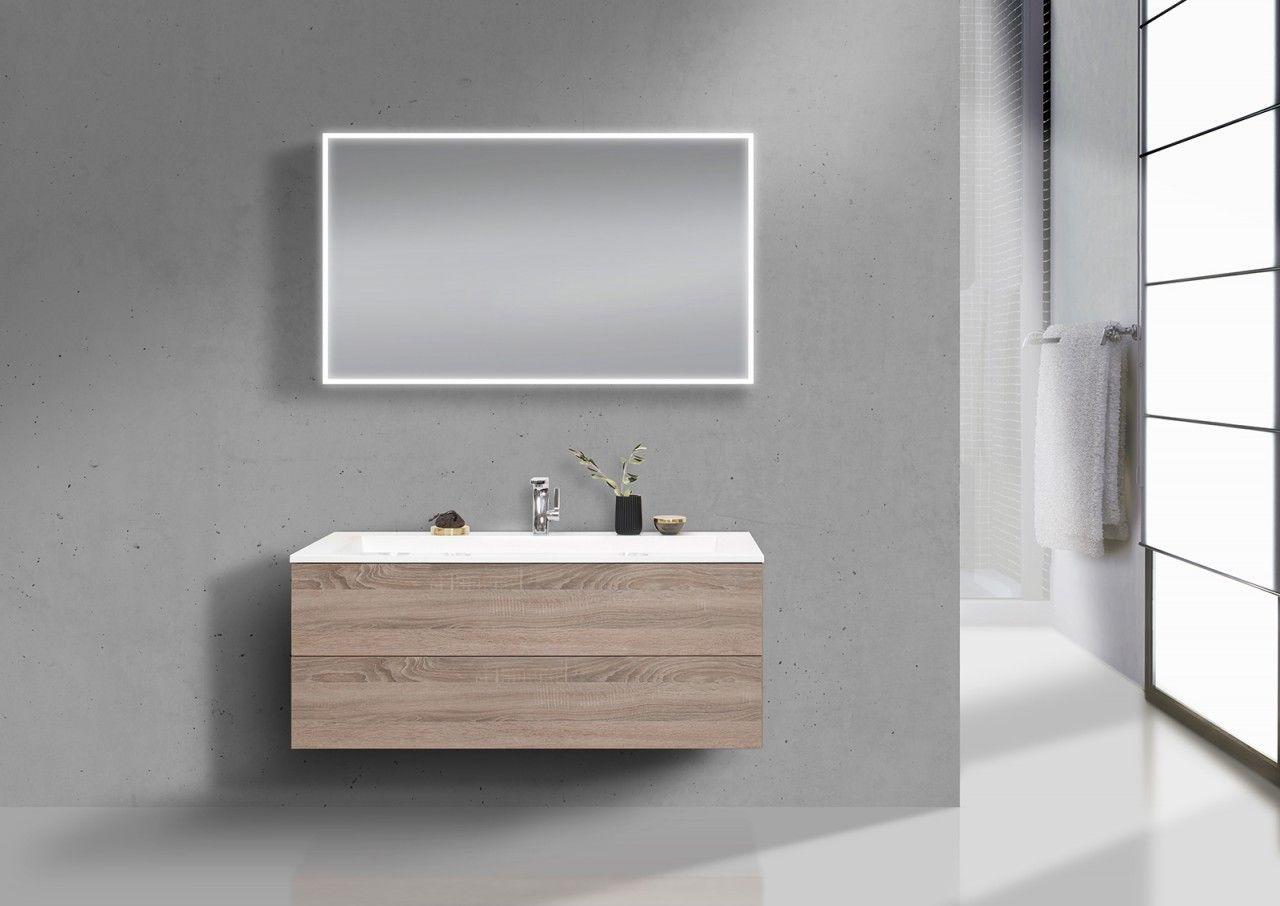 Design Waschtisch 120 cm Evermite, Badmöbel Grifflos mit Push to ...