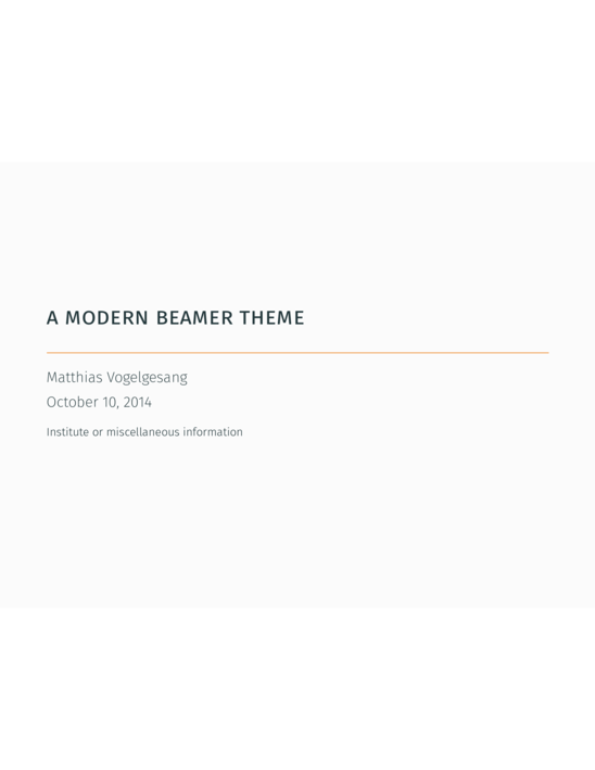 modern beamer theme  mtheme  - latex template