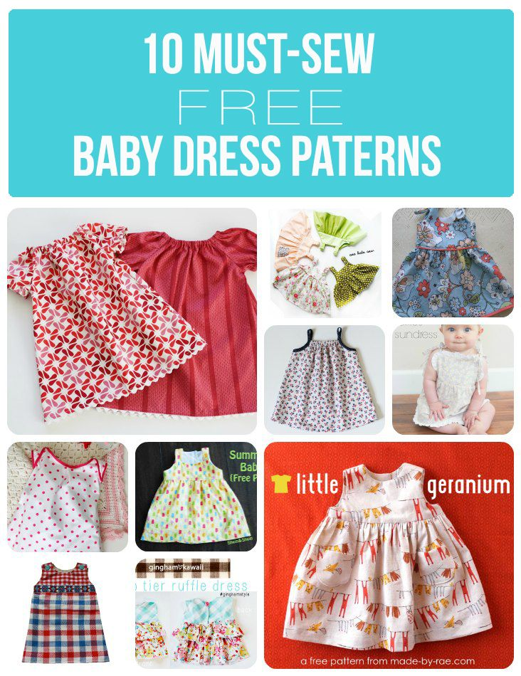 A list of 10 free baby dress patterns that are fun to sew and perfect for your little girl or a gift!