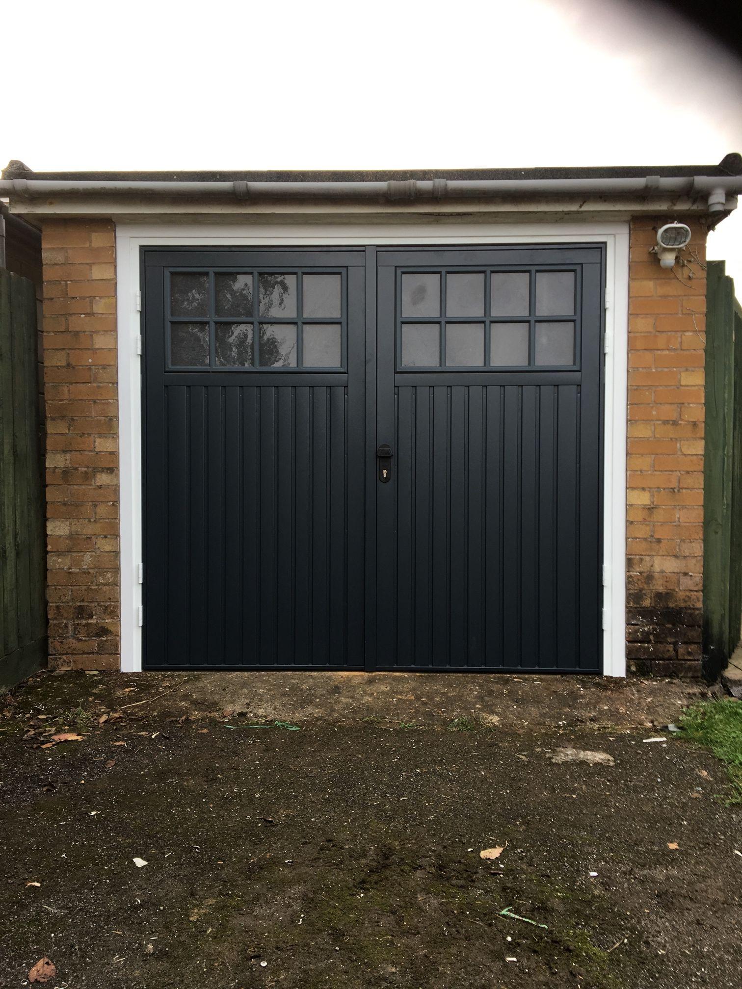 Steel Bedford Side Hinged In Anthracite Grey Garage Doors Wooden Garage Doors Side Hinged Garage Doors