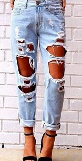 93fa5aba3ef Big Holes Ripped Beggar BY Style Sexy Jeans - Meet Yours Fashion - 2