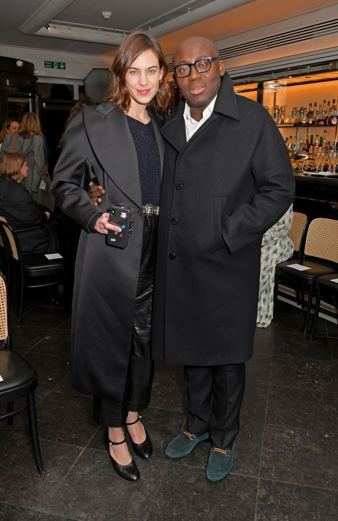 Alexa Chung and Edward Enninful attend the Emilia Wickstead show