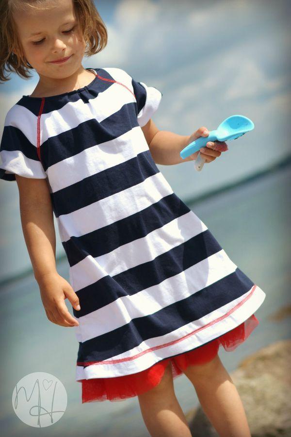 Pin auf Mädchen Sommerkleid nähen - tolle Schnittmuster!
