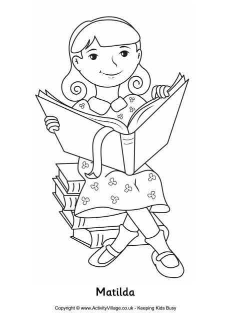 Matilda colouring page | Language Arts and Handwriting | Colouring ...