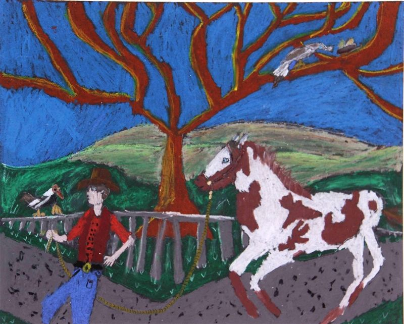 3rd Grade Finalist Rodeo Art Contest Oil Pastel Rodeo