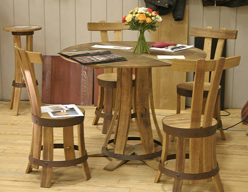 Be Creative With Used Wine Barrels Furniture Made From Old Wine