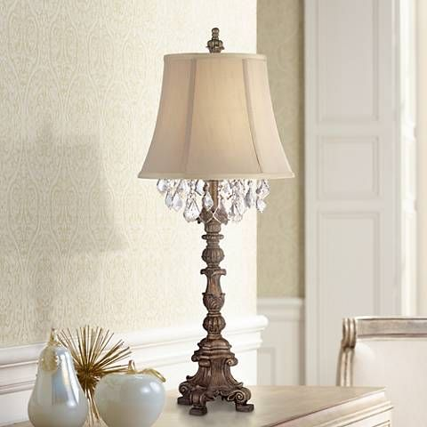 Duval gold crystal candlestick table lamp 7y274 lamps plus