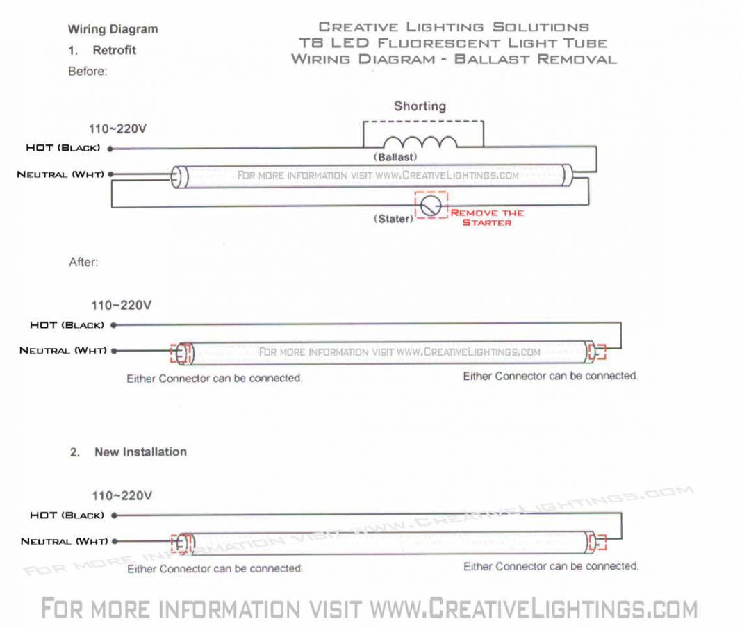 17 Awesome Led Fluorescent Tube Wiring Diagram Design Ideas Bacamajalah In 2020 Led Fluorescent Tube Led Fluorescent Fluorescent Tube