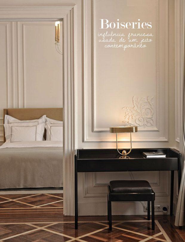 Boiserie | Stanza da letto | Pinterest | Pareti bianche, Stanza da ...